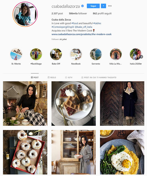 food blogger csabadallazorza